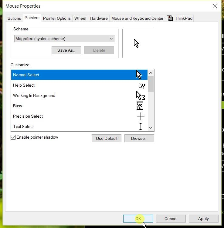 Changing the Mouse Pointer in Windows 10 - Better Living Through