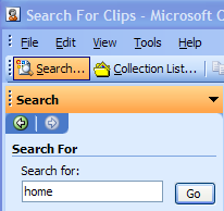Searching for clips