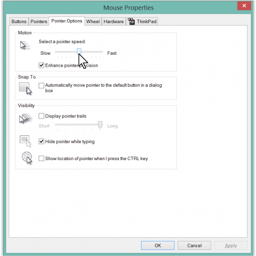 how to change windows pointer speed